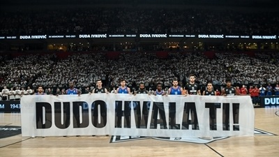 Partizan, Efes and 15,000 fans pay respects to Dusan Ivkovic